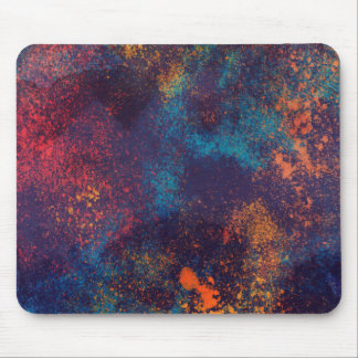Artistic Colorful Grunge Spots | Mousepad