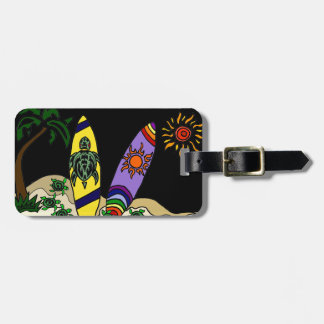 Artistic Colorful Surfboards Surfing Art Luggage Tag