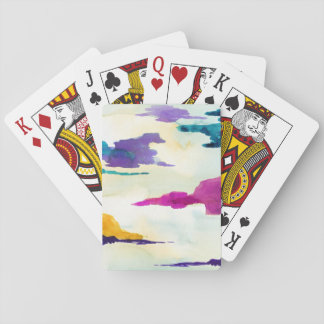 Artistic Colourful Watercolour Playing Cards