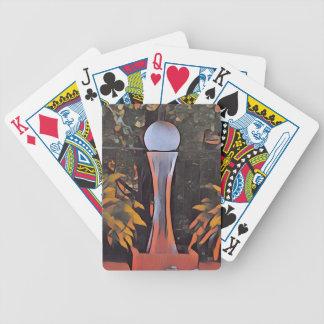 Artistic Contemporary Peach Modern Decor Poker Deck