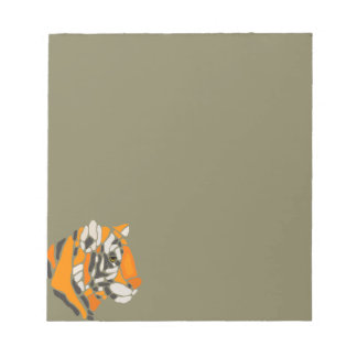 Artistic Cool Tiger Abstract Art Notepad