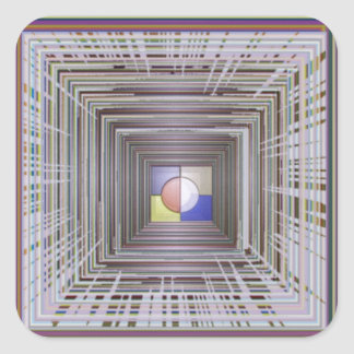 ARTISTIC Cosmic Infinity ART Light end of Tunnel Square Stickers
