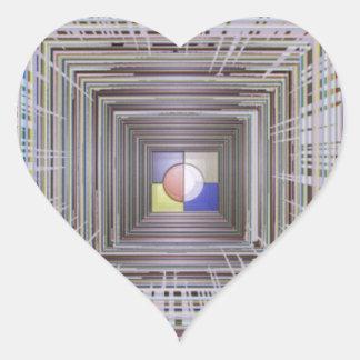 ARTISTIC Cosmic Infinity ART Light end of Tunnel Heart Sticker