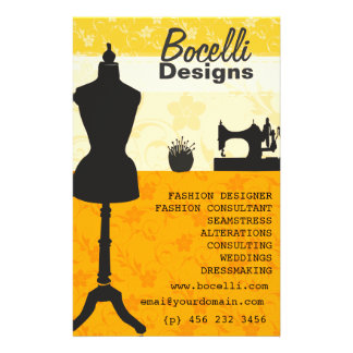 Artistic Craft Atelier Seamstress Fashion Designer Flyer