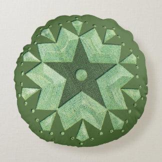 Artistic Crop Circle Round Pillow