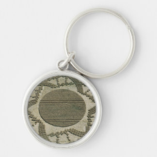 Artistic Crop Circle Silver-Colored Round Keychain