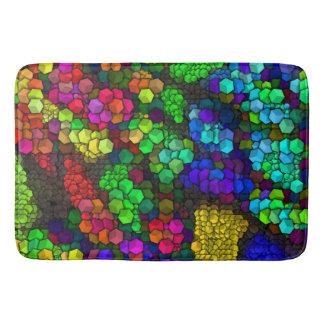 artistic cubes 4 vivid (I) Bathroom Mat