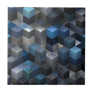 artistic cubes 9 blue (I) Ceramic Tiles