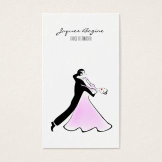 Artistic Dancer Ballroom Dancing Couple Business Card