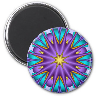 Artistic decorative  magnet Purple Star Flower