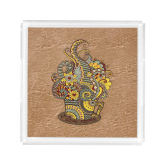 Artistic-doodle-drawing art acrylic tray