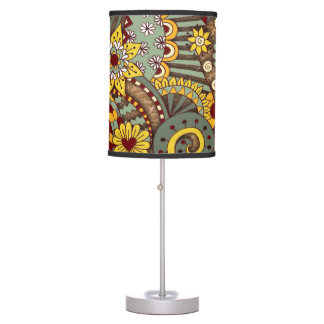 Artistic-doodle-drawing art table lamp