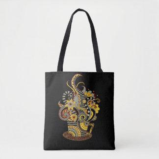 Artistic-doodle-drawing art tote bag