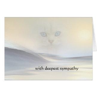 Artistic Dream Sympathy Cat Card