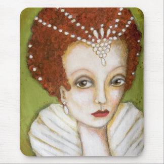 Artistic Elizabeth I Portrait Whimsical Tudor Mouse Pad