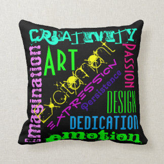 Artistic Expression Colourful Pillow
