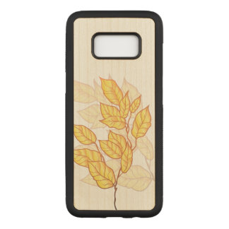 Artistic Fall Foliage Carved Samsung Galaxy S8 Case