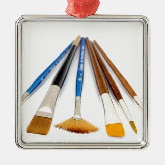 Artistic Flair Silver-Colored Square Ornament