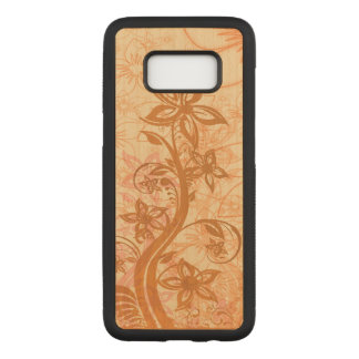 Artistic Floral Design Carved Samsung Galaxy S8 Case
