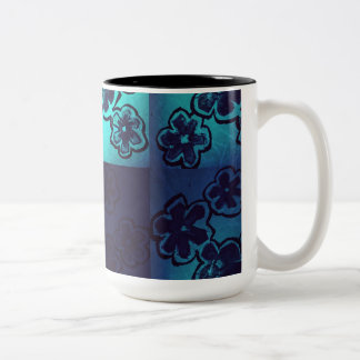 Artistic floral ...light and shaded Mug. Two-Tone Coffee Mug
