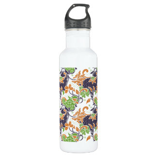 Artistic floral vines batik pattern 710 ml water bottle