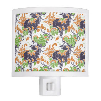 Artistic floral vines batik pattern night light