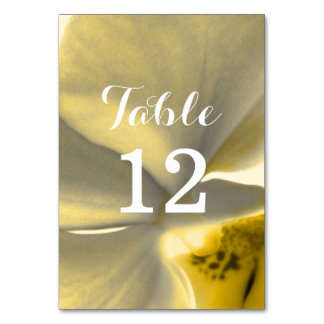 Artistic Flower in Yellow Tones - Wedding Table Card