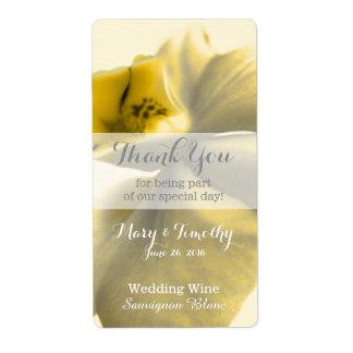 Artistic Flower in Yellow Tones - Wedding Wine
