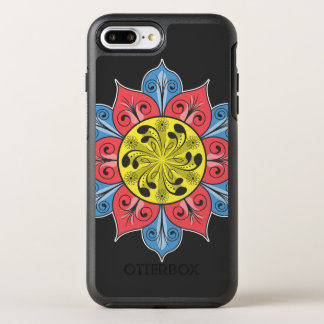 Artistic Flower Pattern OtterBox Symmetry iPhone 8 Plus/7 Plus Case
