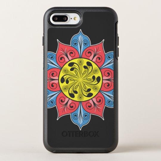 Artistic Flower Pattern OtterBox Symmetry iPhone 8 Plus/7 Plus Case