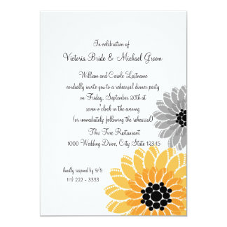 Artistic Flowers Rehearsal Dinner Card