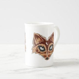 Artistic Fox (brown) Tea Cup