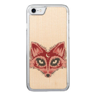 Artistic Fox Illustration Carved iPhone 8/7 Case