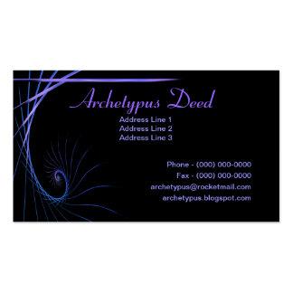 Artistic Fractal Stroke Business Cards