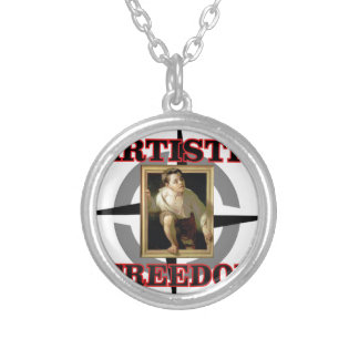 artistic freedom boy leaves silver plated necklace