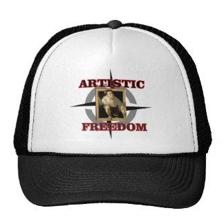 artistic freedom boy leaves trucker hat