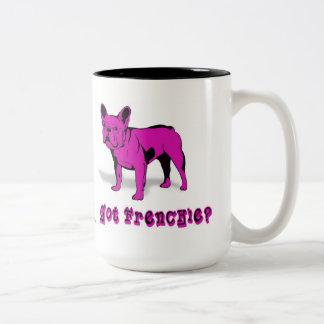 Artistic French Bulldog  Dog Breed  Design Two-Tone Coffee Mug