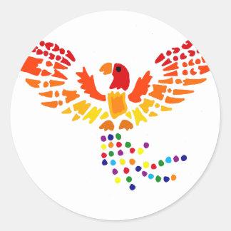 Artistic Fun Phoenix Rising Abstract Art Round Sticker