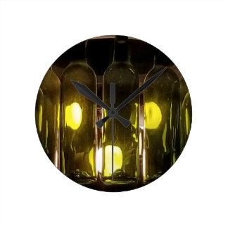 Artistic Funky Masculinev Wine Bottle Round Clock