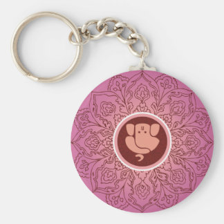 Artistic Ganesh with Mandana Keychain