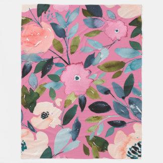 Artistic Garden Blanket in Fuschia