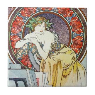 Artistic Goddess Ceramic Tile