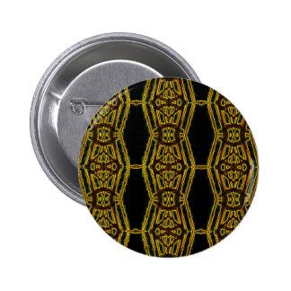 Artistic Golden Masculine Pattern 2 Inch Round Button