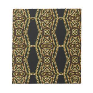 Artistic Golden Masculine Pattern Notepads