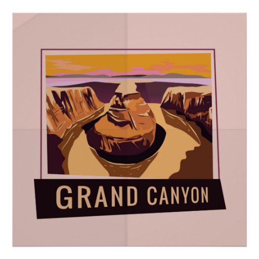 Artistic Grand Canyon Poster