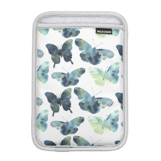Artistic Green blue watercolor butterflies pattern iPad Mini Sleeve
