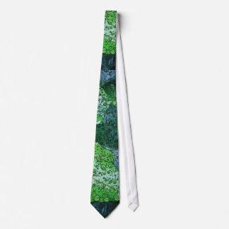 Artistic Green Dew and Rain Tie