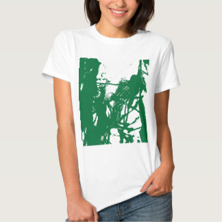 Artistic green ink texture tshirt