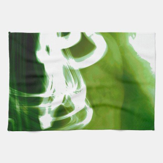 """Artistic Green"" Kitchen Towels"