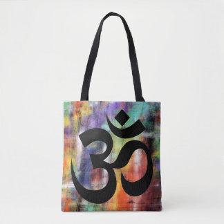 Artistic Grunge Om Symbol Tote Bag